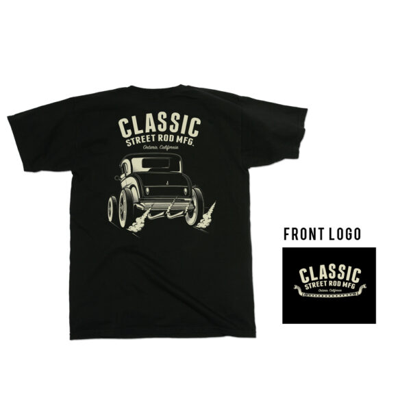 CSRM Coupe T-shirt - Classic Street Rod MFG